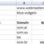 Проверка позиции сайта в поисковиках с помощью Excel